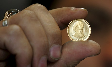 An Iranian gold coin. Now a global force, could Islamic finance contribute to a sustainable economy? Photograph: Atta Kenare/AFP/Getty Images